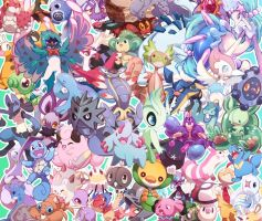 Pokemon Pile by ground-lion