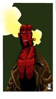 Hellboy by Boston-Joe Colored by Dreekzilla