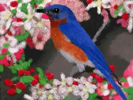 MS Paint Bluebird by eegcmnaes