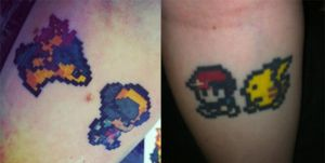 Pixel Pokemon Tattoos by MaxRScape