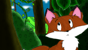 Jungle Fox Colored by FyreLilly