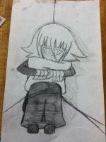 Crona hugging a pillow by kaitolova