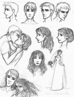 Dramione sketches by Zorocan