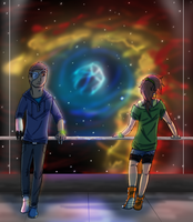 Cruising by the Bubble Nebula by awesometastic
