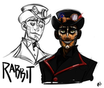 Steam Powered Giraffe - Rabbit by vickyjane