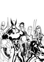 X-Force Waiting For The Bus by TheBoo