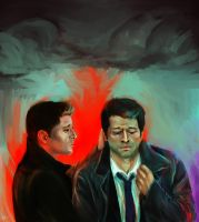 dean's old jacket by anxiouslyD