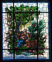 Woodland Cemetary Mausoleum Stained Glass 2 by PLutonius