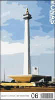 Monas Postcard by indonesia