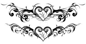 Heart with flourish tattoo design by AngelInWutherland
