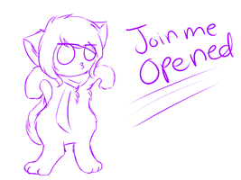 Join me-OPENED :whatdididraw?: by cluelessAvian
