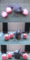Wolf and three piggies - felt cubes by nezstorm