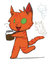 Firestar has a Jar of Dirt by claireone