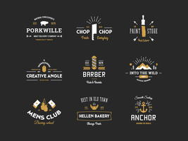 Vintage Logo Badges by this-optimism