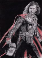 COMMISSION: God of Thunder by MeryHeartless