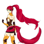 Pyrrha sketch by lekademon
