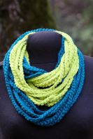 Green And Teal Chain Loop Scarf by CreativeExcess