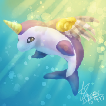 Dolphin in the Water by CheerCreativity