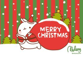Merry Christmas Molang by leyfzalley