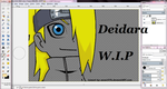 Chibi Deidara WIP by wow1076
