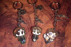 Supernatural Chibi Key Chains by KouranKiyo