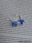 Royal Blue Glass Heart Earrings by Belle-Lolita-Designs