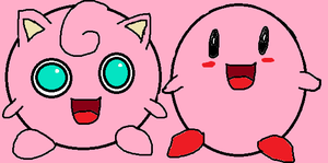 Jigglypuff and Kirby by tanlisette