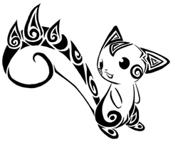Tribal Pachirisu by karouki