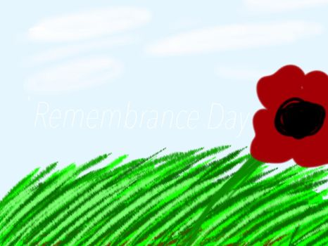 Remembrance Day Poppy by Ask-Insane-Squiddy