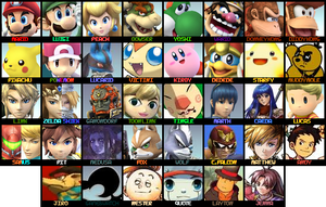 OLD SSB3DS Roster by KingDor65