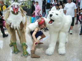 Princess Mononoke Trio by deviantheartless