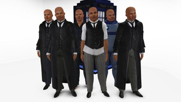 The Sims 3 - Doctor Who - Commander Strax by exangel42