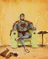 Superman After Work by tarunbanned