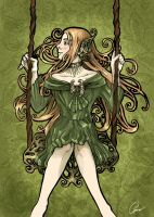 Green Nouveau by Nanjenchan
