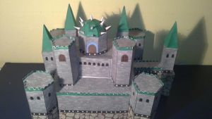 Bowser's castle papercraft by E-419