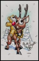 Rudolph the red nosed reindeer by shawnrl61