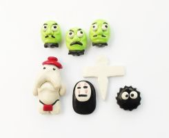 Spirited Away Magnet Set by WTFcharms