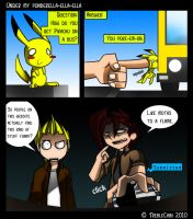 How does Pikachu get on a bus by TrebleChibi