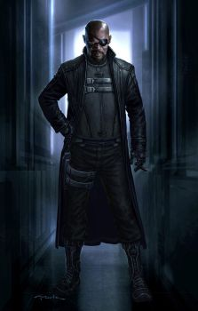 The Avengers- Nick Fury 01 by andyparkart