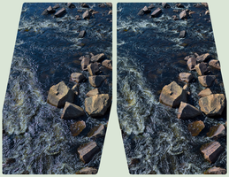 Mississagi River 3D :: HDR by RAW Cross-Eye Stereo by zour