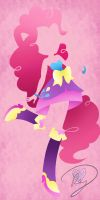 Minimalist Equestria Girls: Pinkie Pie by Because-Im-Pink
