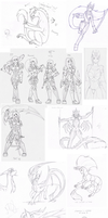 Mega Sketch Dump part one by BajecznaMirra