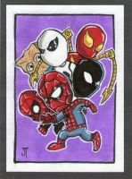 The Sides of Spider-Man sketch card by johnnyism