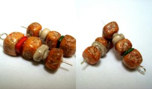 Chicken BBQ brochettes by WithaTouchofFantasy