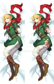 hyrule historia link Body pillow by muse-kr