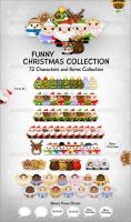 Funny Christmas Collection by FreeIconsFinder