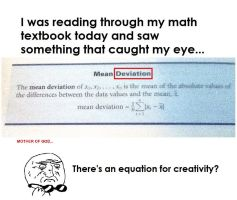 Equation for Creativity?! by Rockonbrad