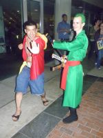 Otakon 2013 - Luffy and Zoro by mugiwaraJM