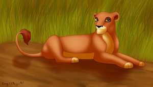 Blue-Eyed Lioness by Morgan-Michele