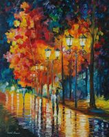 Late stroll by Leonid Afremov by Leonidafremov